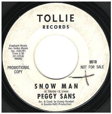 Sans, Peggy / Snow Man | Tollie 9018 | Single, 7