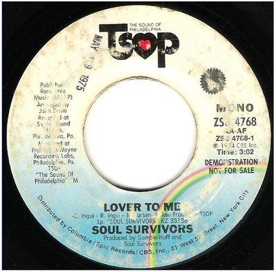 Soul Survivors / Lover To Me | TSOP ZS8-4768 | Single, 7