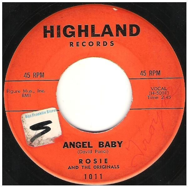 "Rosie and The Originals / Angel Baby | Highland 1011 | Single, 7"" Vinyl 