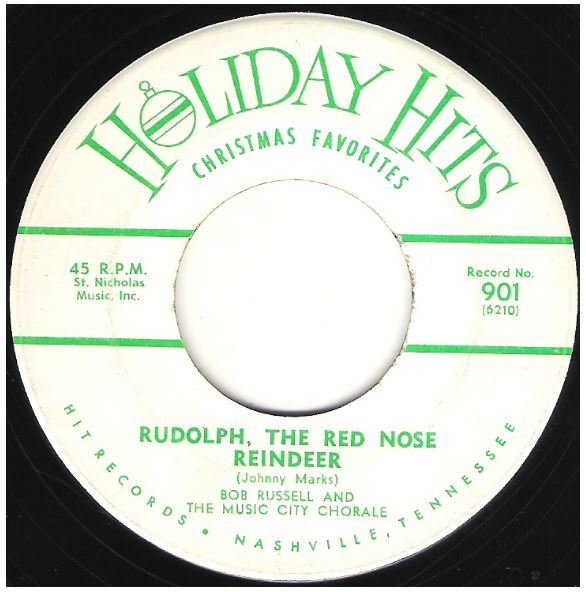 "Russell, Bob / Rudolph, the Red Nose Reindeer | Holiday Hits 901 | Single, 7"" Vinyl 