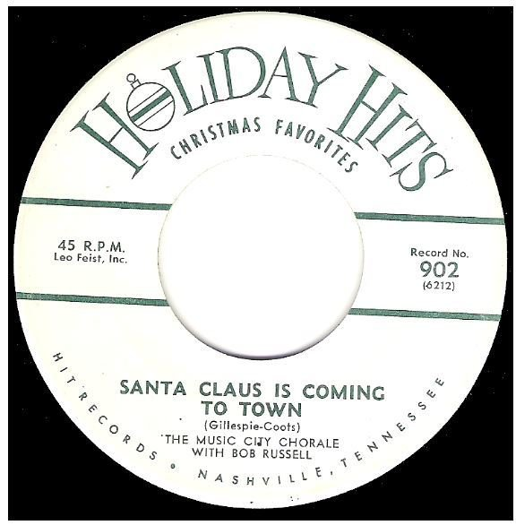 "Russell, Bob / Santa Claus Is Coming To Town | Holiday Hits 902 | Single, 7"" Vinyl 