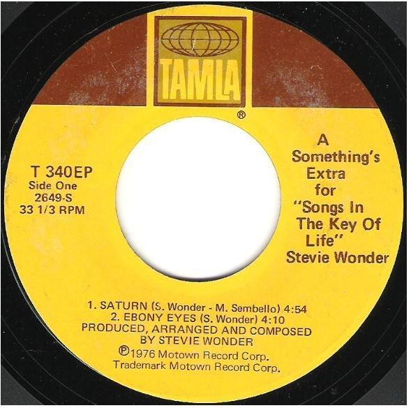"Wonder, Stevie / A Something's Extra for Songs in the Key of Life | Tamla T-340EP | EP, 7"" Vinyl | September 1976"