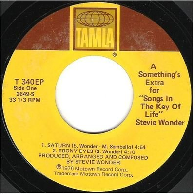 Wonder, Stevie / A Something's Extra for Songs in the Key of Life | Tamla T-340EP | EP, 7