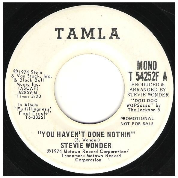 "Wonder, Stevie / You Haven't Done Nothin' | Tamla T-54252F | Single, 7"" Vinyl 