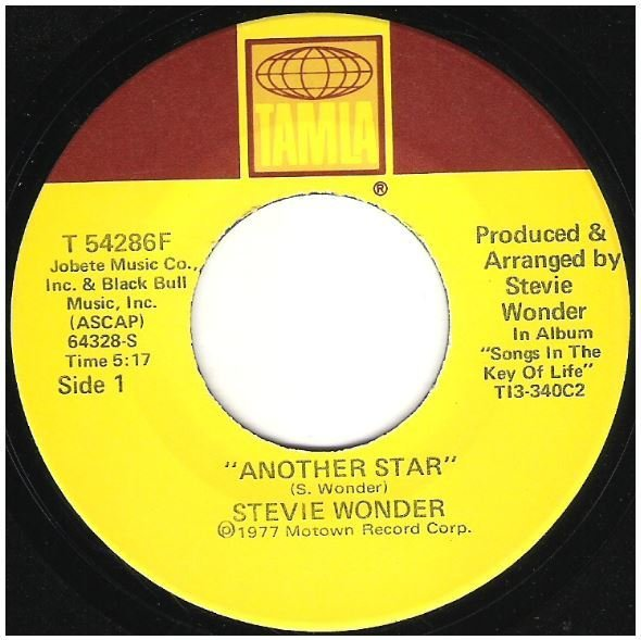 "Wonder, Stevie / Another Star | Tamla T-54286F | Single, 7"" Vinyl | August 1977"