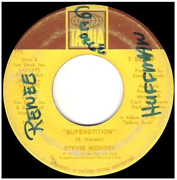 "Wonder, Stevie / Superstition | Tamla T-54226F | Single, 7"" Vinyl | October 1972"