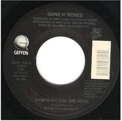 Guns N' Roses / Sympathy for the Devil   Geffen GEFS7-19381   Single, 7
