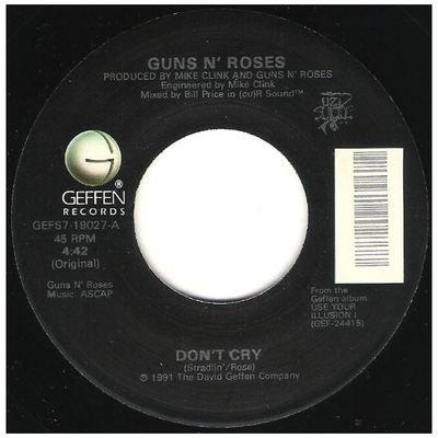 Guns N' Roses / Don't Cry   Geffen GEFS7-19027   Single, 7