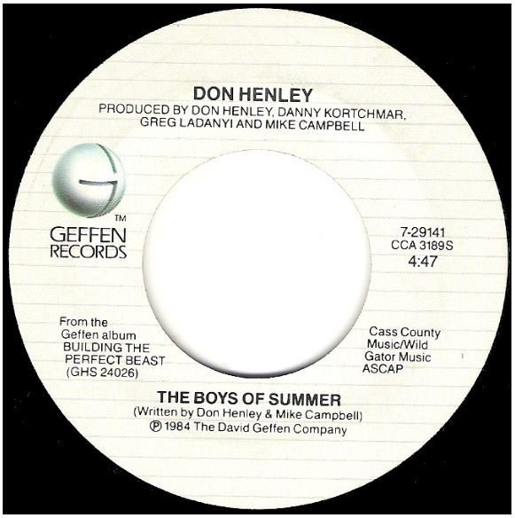 "Henley, Don / The Boys of Summer | Geffen 7-29141 | Single, 7"" Vinyl 