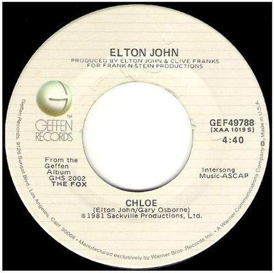 John, Elton / Chloe   Geffen GEF-49788   Single, 7