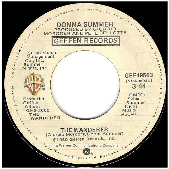 "Summer, Donna / The Wanderer | Geffen GEF-49563 | Single, 7"" Vinyl | September 1980"