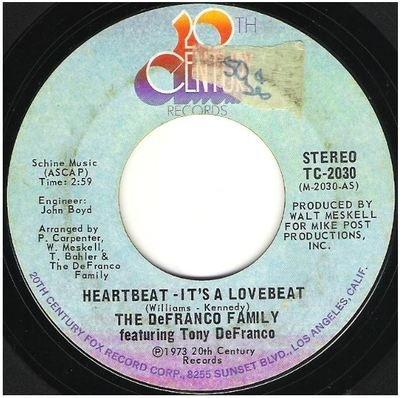 DeFranco Family, The / Heartbeat - It's a Lovebeat   20th Century TC-2030   Single, 7