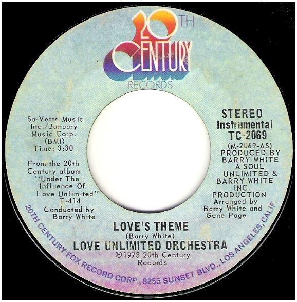 "Love Unlimited Orchestra / Love's Theme | 20th Century TC-2069 | Single, 7"" Vinyl | November 1973"