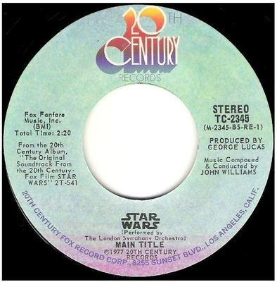London Symphony Orchestra / Star Wars - Main Title   20th Century TC-2345   Single, 7
