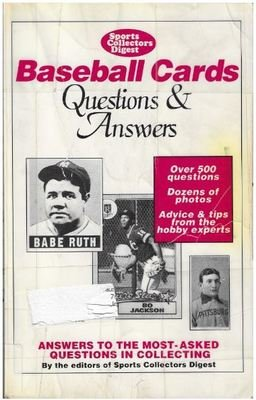 Brecka, Jon / Baseball Cards - Questions + Answers | Krause Publications | Book | 1990