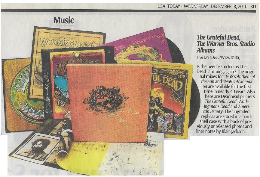 Grateful Dead / The Warner Bros. Studio Albums | Newspaper Review | December 2010