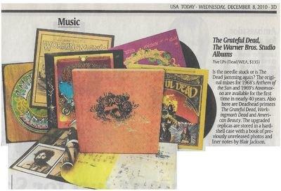 Grateful Dead / The Warner Bros. Studio Albums   Newspaper Review   December 2010