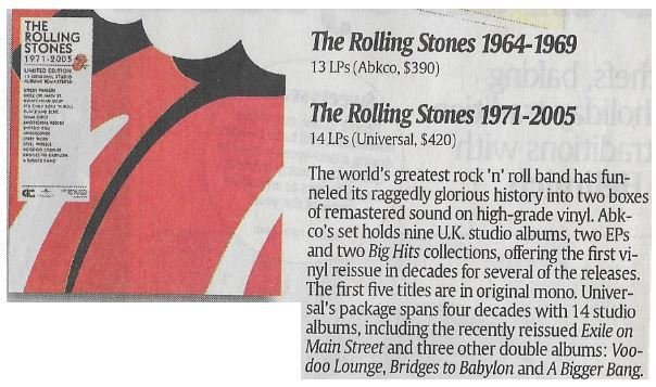 Rolling Stones, The / The Rolling Stones 1971-2005 | Newspaper Review | December 2010