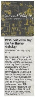 Hendrix, Jimi / West Coast Seattle Boy: The Jimi Hendrix Anthology | Newspaper Review | December 2010