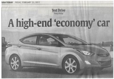 Hyundai (Elantra) / A High-End Economy Car | Newspaper Article | February 2011