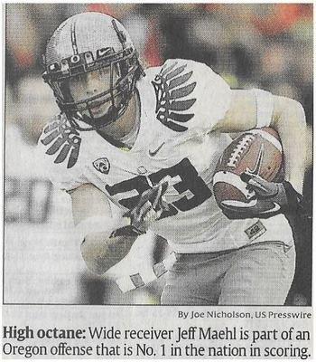 Maehl, Jeff / High Octane | Newspaper Photo | December 2010 | Oregon Ducks