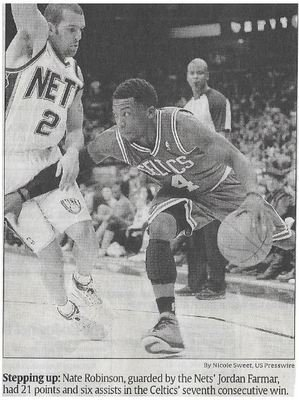 Robinson, Nate / Stepping Up | Newspaper Photo | December 2010 | Boston Celtics