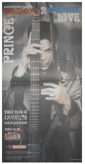 Prince / Welcome to America Live - Izod Center | Newspaper Ad | November 2010