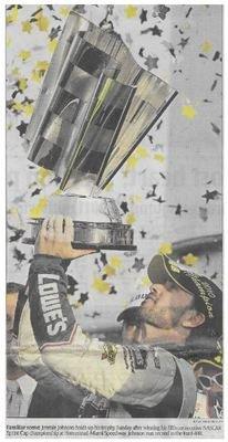 Johnson, Jimmie / Familiar Scene | Newspaper Photo | November 2010 | NASCAR