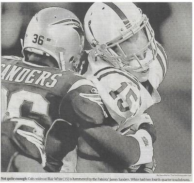 White, Blair / Not Quite Enough | Newspaper Photo | November 2010 | Indianapolis Colts