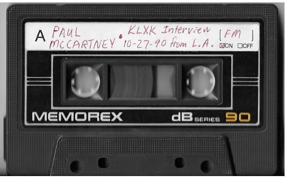 McCartney, Paul / Los Angeles, CA (KLXK) | Interview Cassette | October 1990