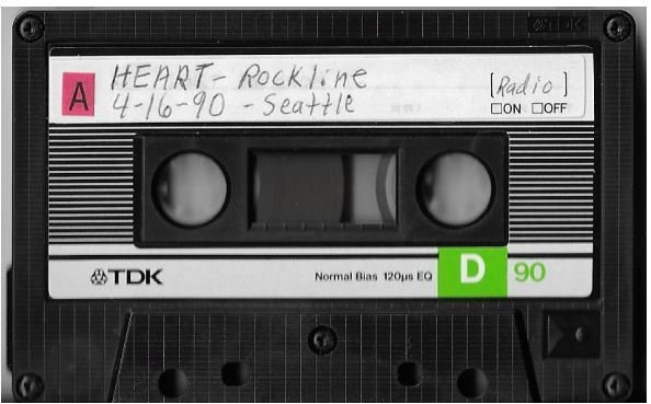 Heart / Seattle, WA (Rockline) | Live Cassette | April 1990