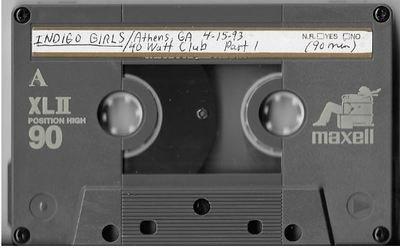 Indigo Girls / Athens, GA (40 Watt Club) | Live Cassette | April 1993 | Part 1