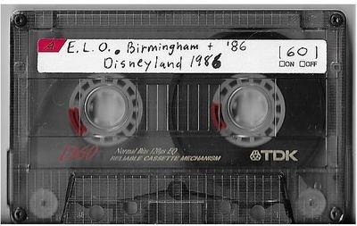 Electric Light Orchestra / Birmingham, England (NEC) | Live Cassette | March 1986