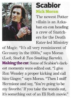 Moran, Nick / As Scabior | Magazine Article | November 2010 | Harry Potter