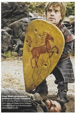Dinklage, Peter / Mounts a Defense As Tyrion Lannister | Magazine Photo | November 2010 | Game of Thrones