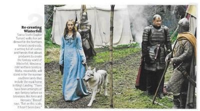 Turner, Sophie / Re-creating Winterfell | Magazine Photo | November 2010 | Game of Thrones