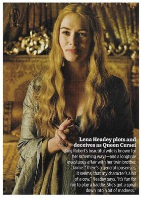 Headey, Lena / Plots and Deceives as Queen Cersei | Magazine Photo | November 2010 | Game of Thrones