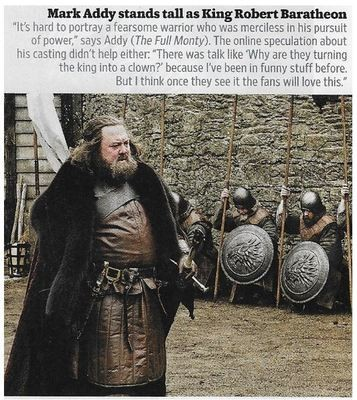 Addy, Mark / Stands Tall As King Robert Baratheon | Magazine Photo | November 2010 | Game of Thrones