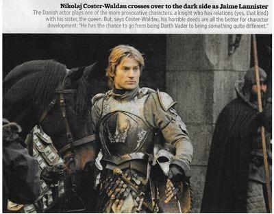 Coster-Waldau, Nikolaj / Crosses Over to the Dark Side As Jaime Lannister | Magazine Photo | November 2010 | Game of Thrones