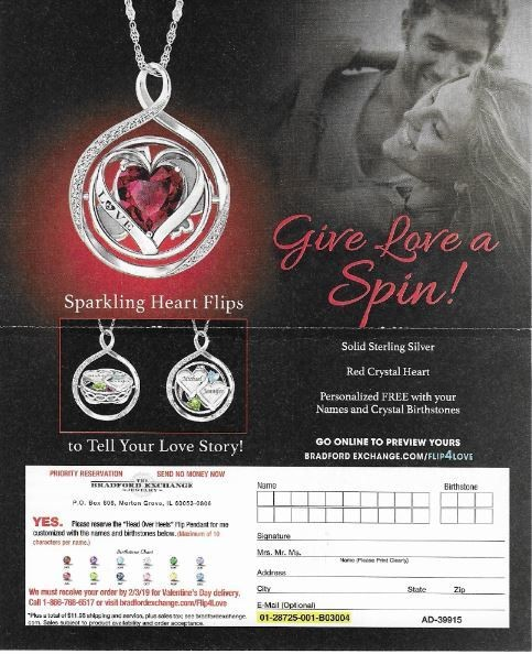 Bradford Exchange, The / Give Love a Spin! | Magazine Ad | 2018
