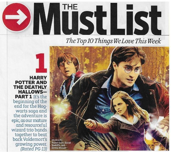 Radcliffe, Daniel / Harry Potter and the Deathly Hollows-Part 1 - The Must List | Magazine Article | November 2010