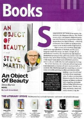 Martin, Steve / An Object of Beauty | Magazine Review | November 2010