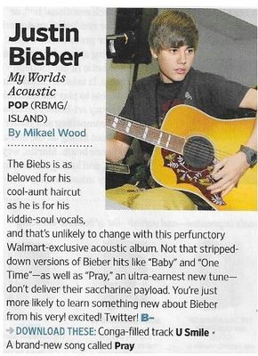 Bieber, Justin / My Worlds Acoustic | Magazine Review | November 2010