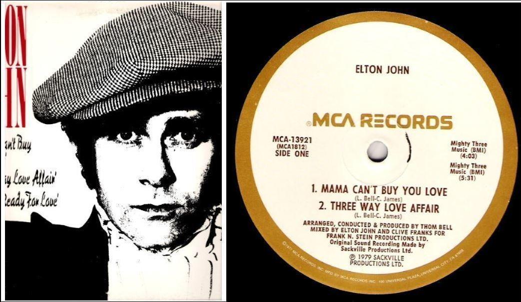"""John, Elton / The Thom Bell Sessions (1979) / MCA 13921 (Single, 12"""" Vinyl)"""