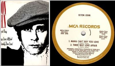 John, Elton / The Thom Bell Sessions (1979) / MCA 13921 (Single, 12