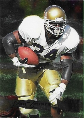 Zellars, Ray / New Orleans Saints   Fleer Metal #123   Football Trading Card   1995   Rookie Card