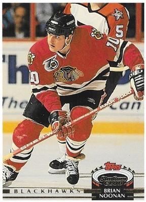Noonan, Brian / Chicago Blackhawks   Stadium Club #400   Hockey Trading Card   1992-93