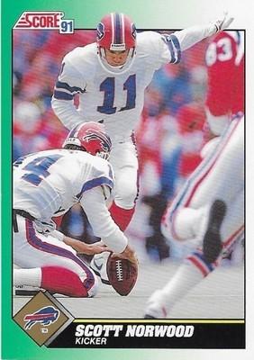 Norwood, Scott / Buffalo Bills   Score #251   Football Trading Card   1991