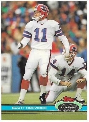 Norwood, Scott / Buffalo Bills   Stadium Club #40   Football Trading Card   1991