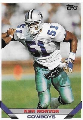 Norton, Ken / Dallas Cowboys   Topps #323   Football Trading Card   1993